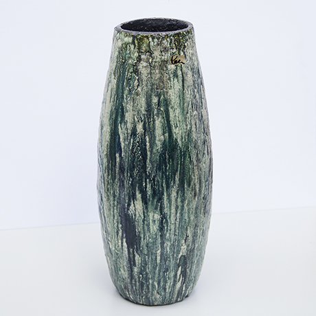 Schäffenacker-ceramic-floor-vase-green