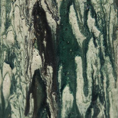 Schäffenacker-ceramic-vase-green-white-striped