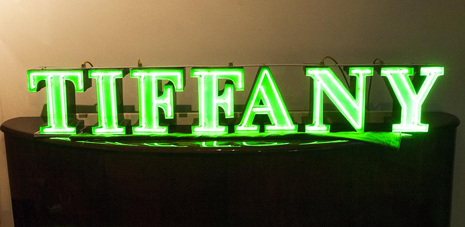 Tiffany-neon-Werbeschild-gruen-vintage