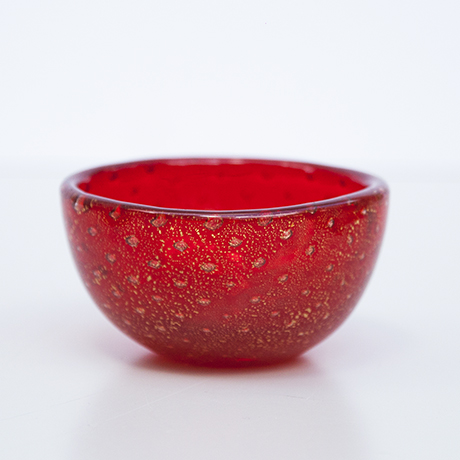 Venini-Murano-glass-bowl-red