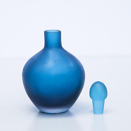 Venini-Murano-glass-vase-flacon-blue