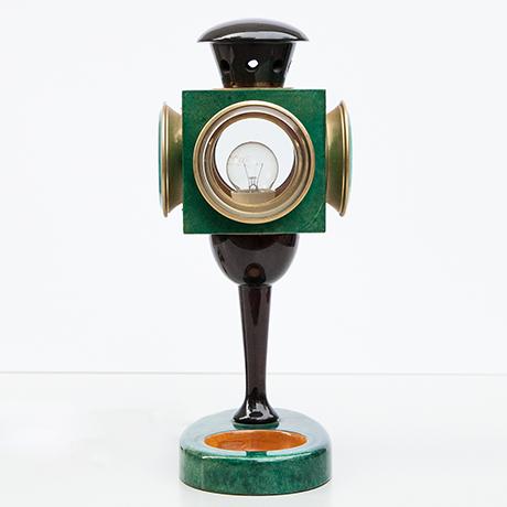 Aldo-Tura-table-lamp-green-latern