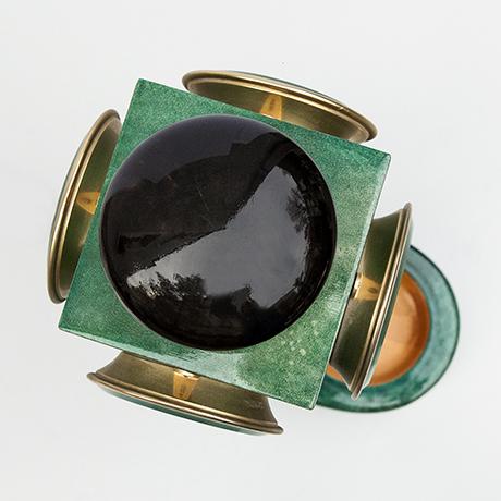 Aldo-Tura-table-lamp-green-vintage