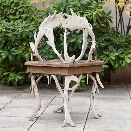 Antler-chair-wooden-leather-oak-german