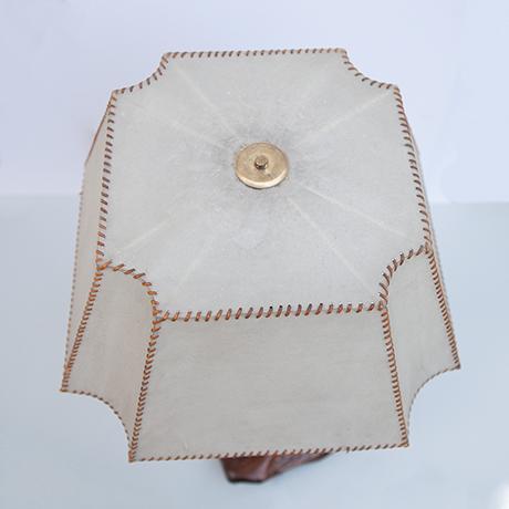 Arts-Craft-table-lamp-tree-stump-leather