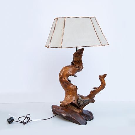 Arts-Craft-table-lamp-tree-stump