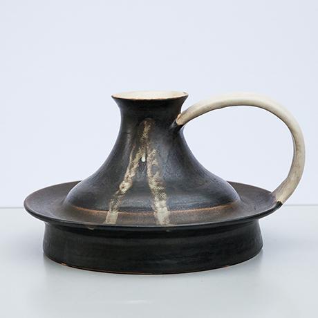 Bruno-Gambone-vase-ceramic-black-greige