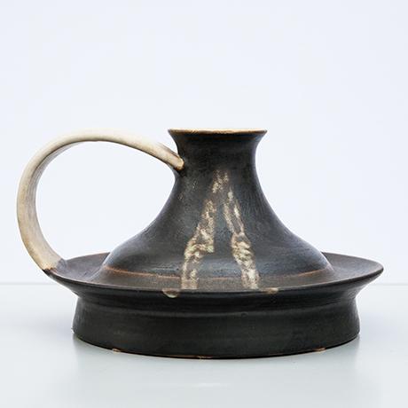 Bruno-Gambone-vase-keramik-schwarz
