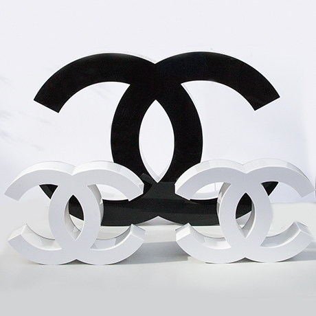 Coco-Chanel-letters-black-white-france