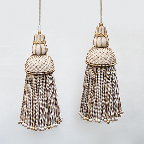 Fabric-Tassel-pendant-lamps