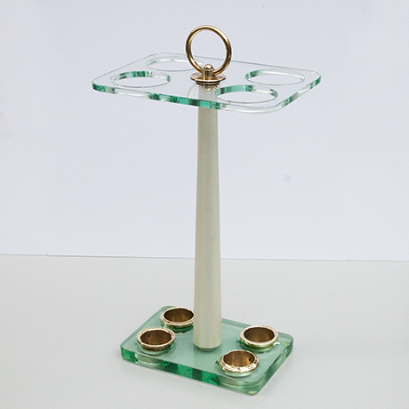 Fontana-Arte-umbrella-stand-brass-glass