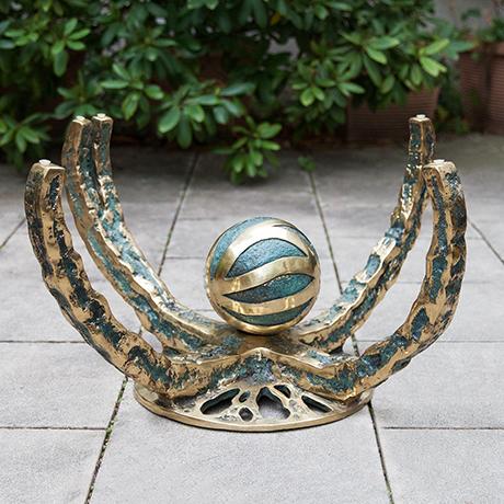 Henri-Fernandez-tisch-beistelltisch-glas-bronze