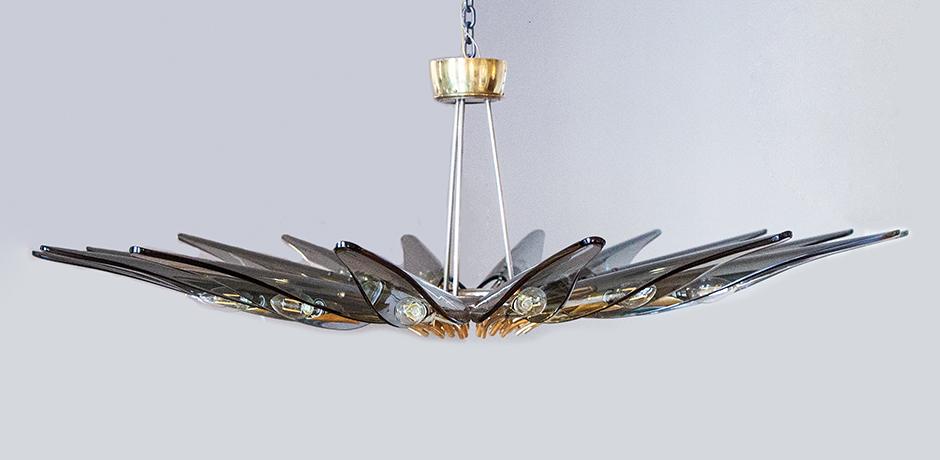 Ingrand-Dahlia-Leuchter-Fontana-Arte