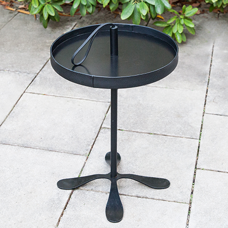 Poltrona-frau-side-table-black-leather