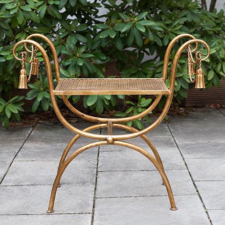 chair-piano-stool-Hollywood-Regency