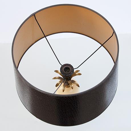 tischlampe-lampe-straussenei-messing