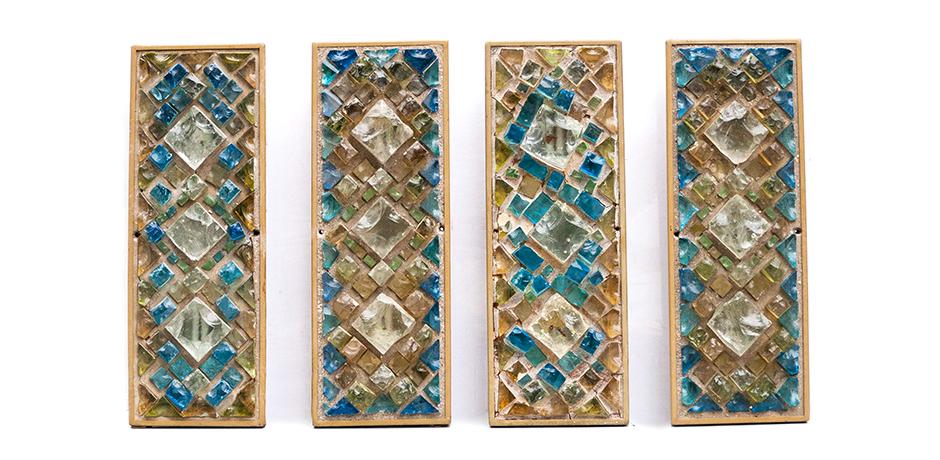 wandleuchten-stein-glas-gelb-blau-gruen