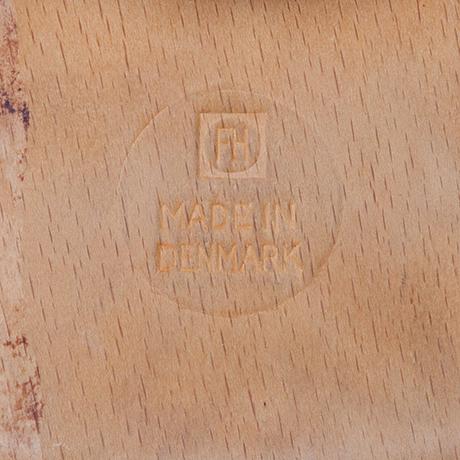 Arne-Jacobsen-Fritz-Hansen-dot-stool-signed