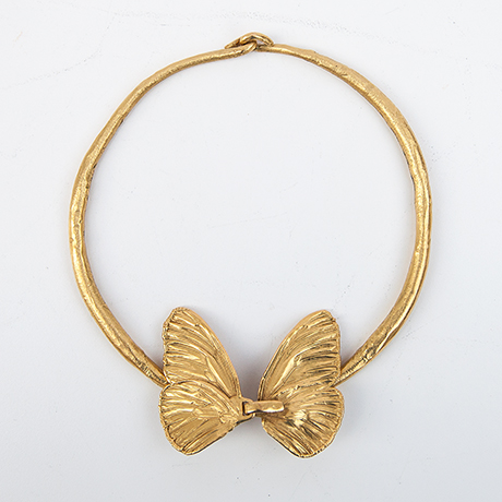 Claude-Lalanne-necklace-butterfly-bronze