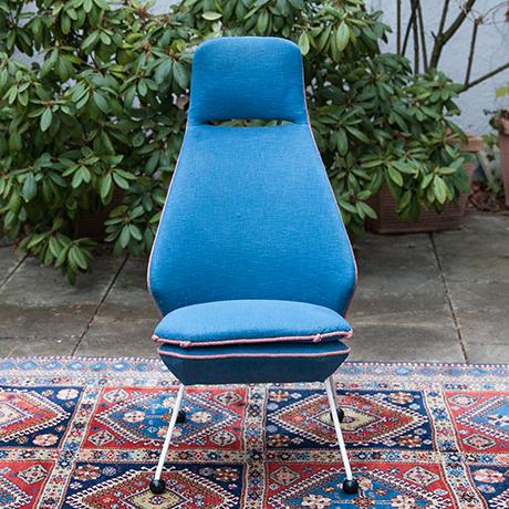 Easy-sessel-blau-stoff-vintage