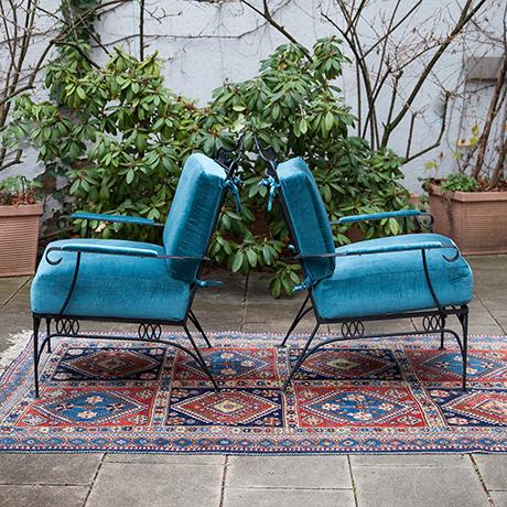 Easy-chairs-armchair-blue-velvet