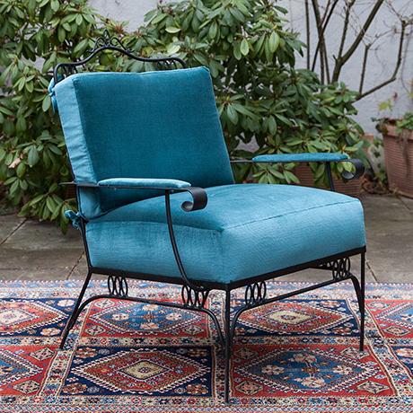 Sessel-blau-samt-vintage