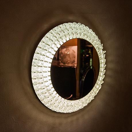 Emil-Stejnar-wall-mirror-flower-illuminated-austrian