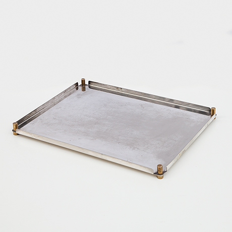 Schlichtes DesignEttore-Sottsass-tray-silver-Munari