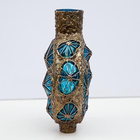 Marcello-Fantoni-vase-blue-metal