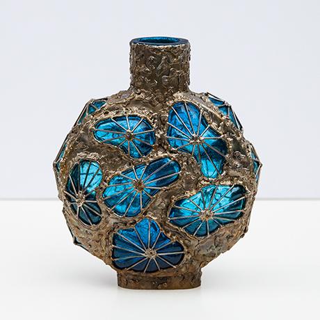 Fantoni-vase-blau-braun