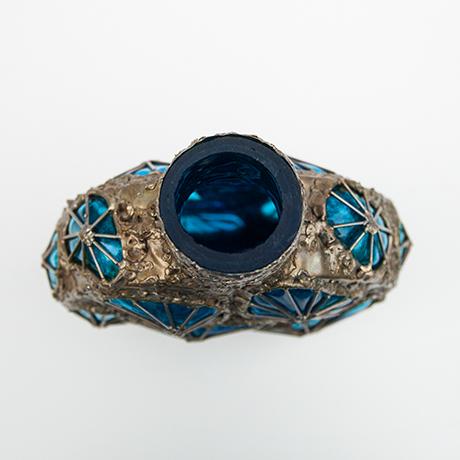 Fantoni-vase-blau-braun-italien