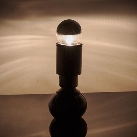Gini-Sarfatti-Arteluce-table-lamp-leather-black