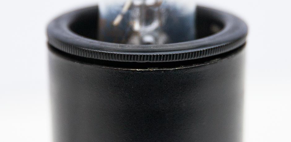 Gini-Sarfatti-Arteluce-tischlampe-lampe-schwarz-leder