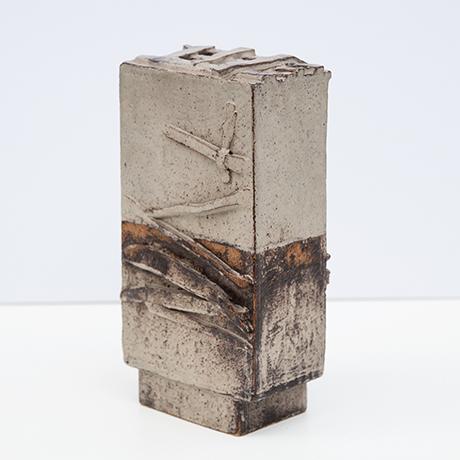 Heidi-Kippenberg-vase-gefaess-keramik-grau-braun