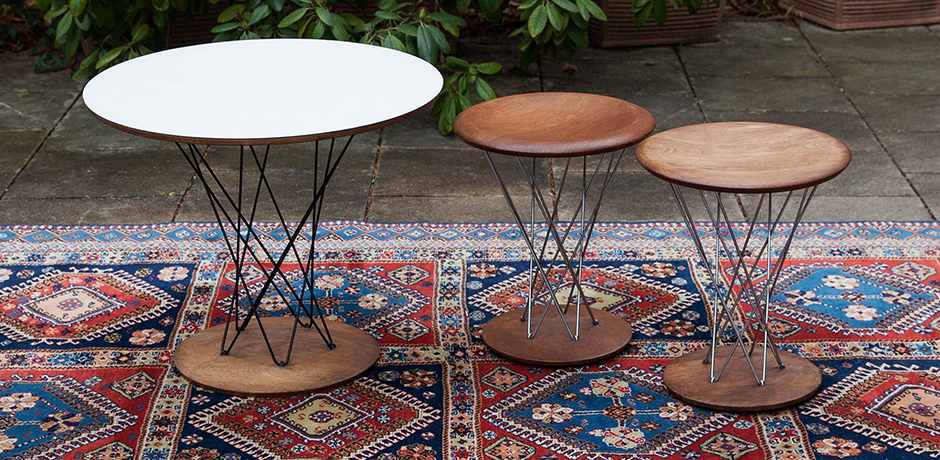 Isamu Noguchi Cyclone Table Rocking Stool Set For Knoll International Expo 1958 Schlicht Designmobel