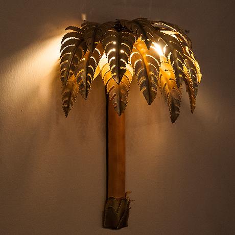 Maison-Jansen-wandlampe-lampe-palme-messing