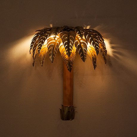 Maison-Jansen-wall-lamp-palm-brass