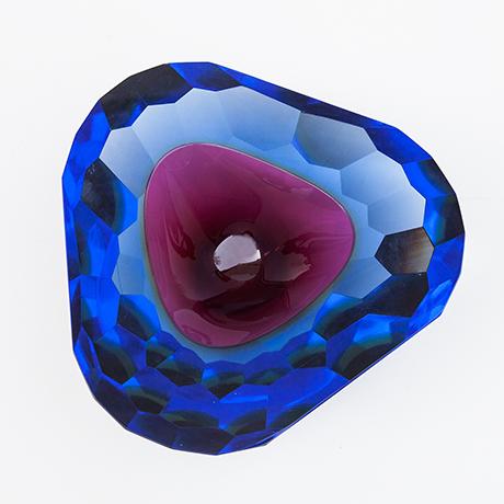 Murano-glass-bowl-ashtray-purple-blue-italy