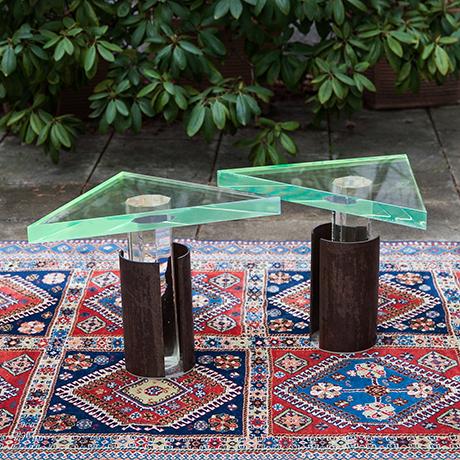 side-tables-green-blue-vintage