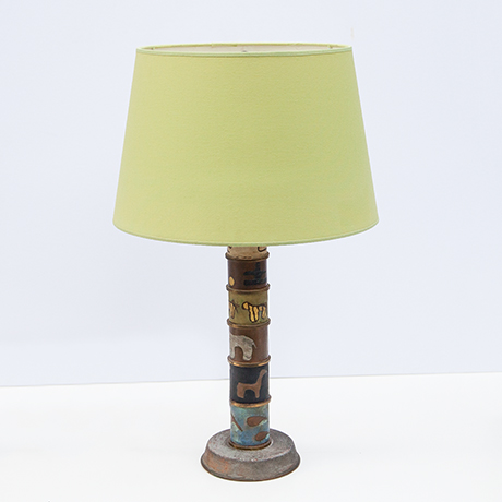 Schlichtes Designtable-lamp-animals-pattern-enamel