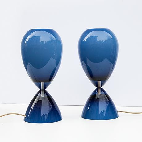 Tischlampe-lampen-Murano-glas-blau