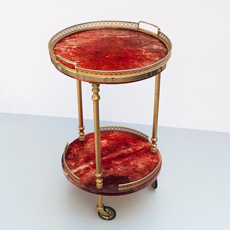 Aldo-Tura-bar-cart-round-serving-tray-red