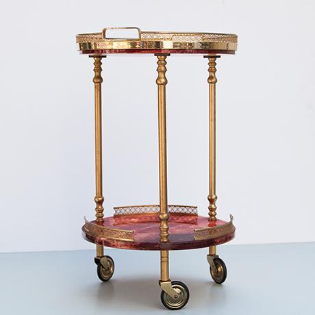 Aldo-Tura-bar-cart-vintage-serving-tray-red