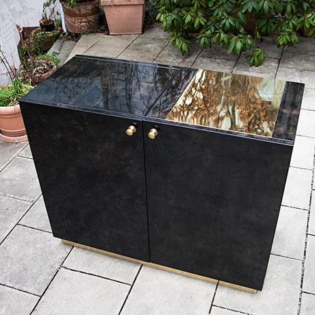 Aldo-Tura-bar-sideboard-anthracite-grey-brown