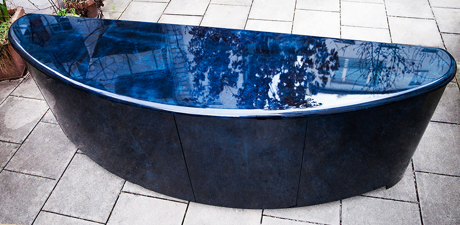 Aldo-Tura-sideboard-blue-glass-shelves