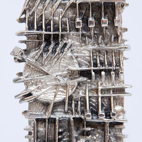 Arnaldo-Pomodoro-object-rectangular-silver