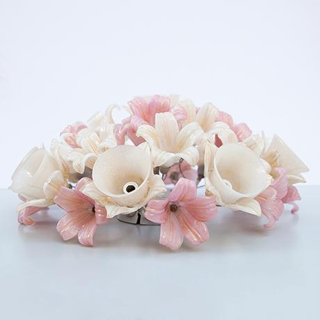 Barovier-Toso-Deckenleuchte-Lampe-Blumen-glas