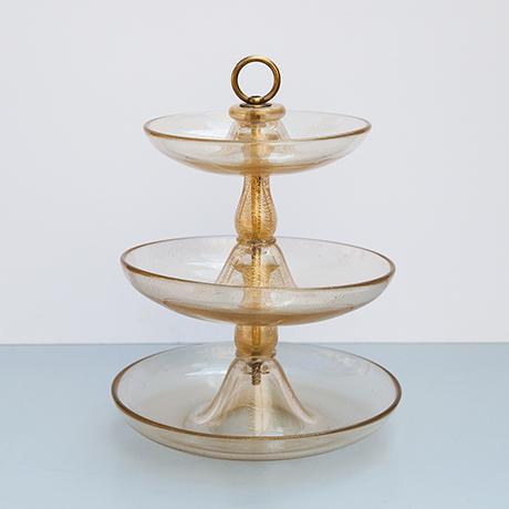 Barovier-etagere-glass-murano-golden