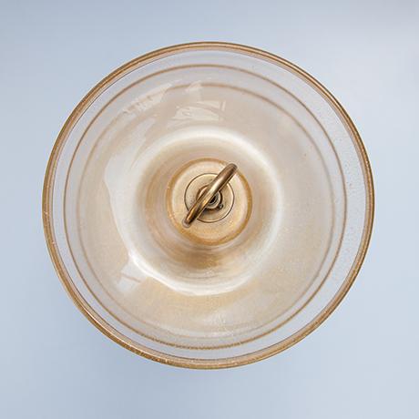 Barovier-Toso-fruit-bowl-glass-murano-golden