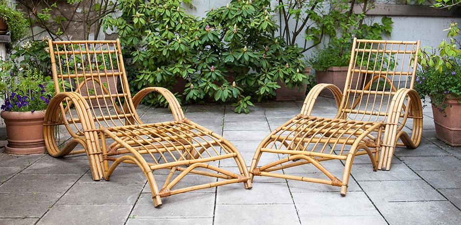 Schlichtes DesignBonacina-lounge-chair-ottoman-bamboo